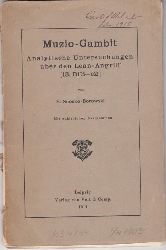 Snosko-Borowsi 1911, cover page
